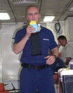 Emergency breathing device - Demonstration by safety Officer