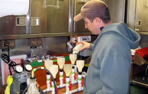 Scott preparing the chlorophyll samples