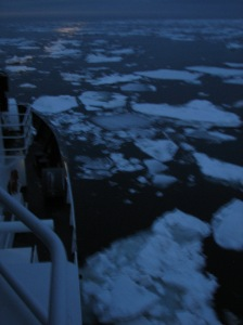 Ice as seen from the bridge(Photo courtesy of Matt Wilson)