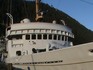 RAINIER bridge and forward starboard bow