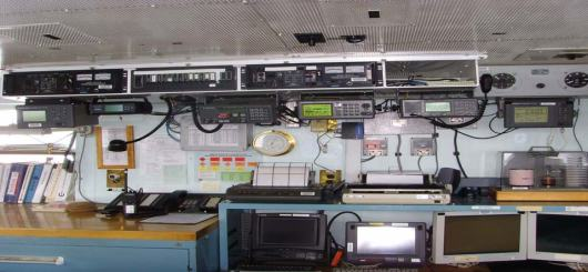 A myriad of navigation equipment exists aboard the RAINIER.