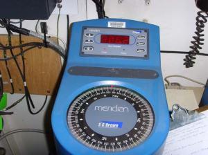 The electronic gyrocompass aboard the RAINIER