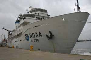 NOAA ship GORDON GUNTER at the dock in its home port of Pascagoula, MS.