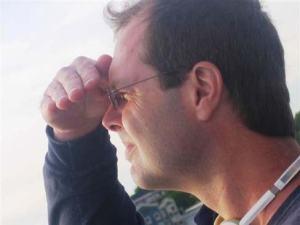 Dr. John Galbraith looks for animals.