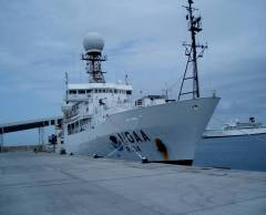 NOAA Ship Ronald H. Brown docked in Barbados