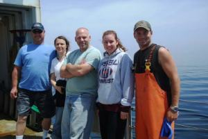 The watch team: (in order from left to right) Gary Pearson, Cristina Bascunan, Vic Nordahl, me, and A. J. Ward.