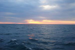 A beautiful sunset on the Atlantic