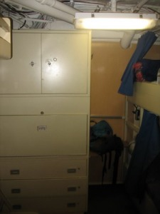 Stateroom dresser aboard the Jordan