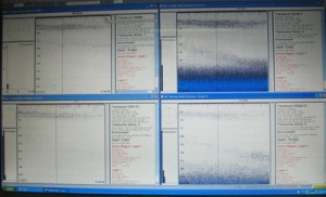 Computer generated images showing acoustic scattering during the day