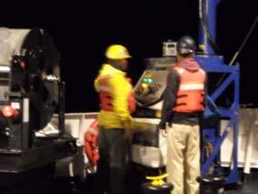 Weston Renoud and Adam Argento deploying the MVP fish.