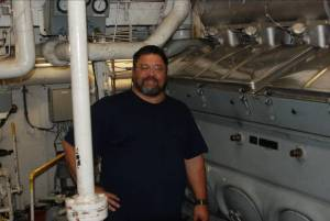 That's me next to the port main engine