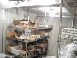 "The ""chiller"" where the food is refrigerated"
