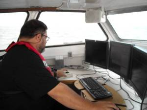 Here I am on the launch monitoring all the data that's being collected