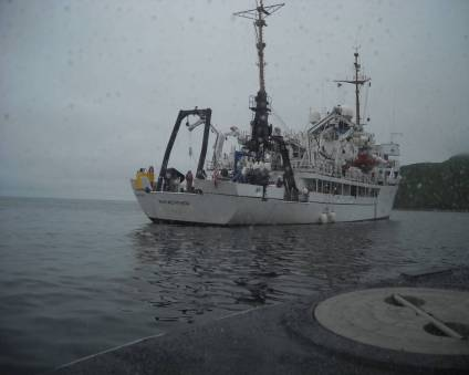 After a long day on the launch, it was great to see the Fairweather on this rainy day.