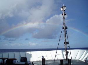 An anuenue (Hawaiian for rainbow) at sea