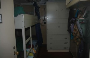 Bedrooms on board the DAVID STARR JORDAN -mine is the bottom bunk