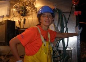 Kira Lopez in the lab