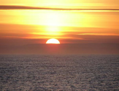 Sunrise off the southern Oregon coast as seen from NOAA ship McARTHUR II