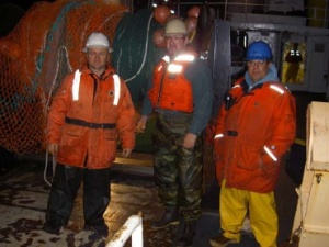 Vlad Zgutnitski, Sam Brandal, and Jose' Coito ready to do a trawl