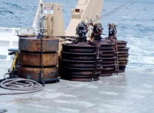 Anchors for the buoys ATLAS buoy instruments that will be redeployed