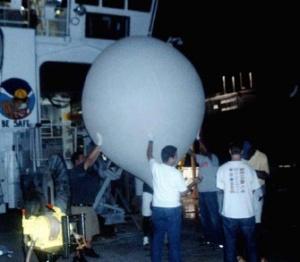 Deployment of the ozonesonde