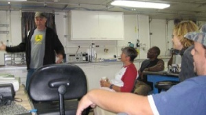 Here I am giving my science seminar