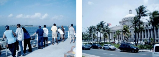 Everyone anxiously awaiting arriving in San Juan (left) and the Capital Building (right)