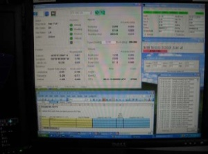 This display shows technical data about the ship and Multi-Beam Echo Sounder.