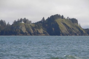 Cape Disappointment Lighthouse where the mighty Columbia River collides with the Pacific Ocean