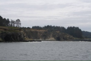 Entering the channel to Coos Bay, OR