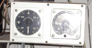 The wet lab's wind direction and wind speed instrumentation.  Original to when the ship was built in the 1960's??