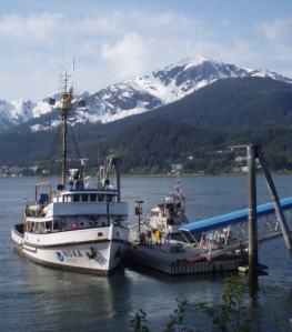 The JOHN N. COBB docked in the National Marine Fisheries Service (NMFS) Subport in Juneau.