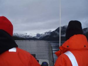 Setting off in the JC-1 skiff for a morning of harbor seal observations.