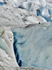 Twenty-foot crevasse in Mendenhall Glacier