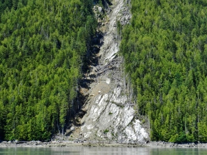 Evidence of tectonic activity and rundown