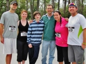 With the crew after the 5K race at O'Leno State Park