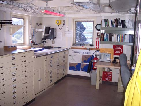 One of the workrooms aboard the NOAA Ship THOMAS JEFFERSON.