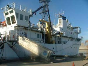 NOAA Ship KA'IMIMOANA docked in Honolulu.
