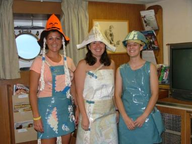 TAS Karolyn Braun, Junior Officer Rebecca Waddington, Junior Officer Phoebe Woodward show off their Halloween costumes.