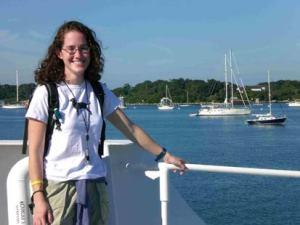 Jill Carpenter aboard the Delaware II in port