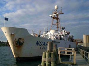 NOAA ship DELAWARE II.
