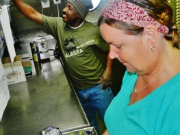 Chief Steward Kathy Brandts and GVA Ron Hurt keep the crew happily well-fed.