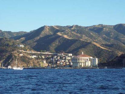 This is a view of Avalon on Santa Catalina Island, CA.