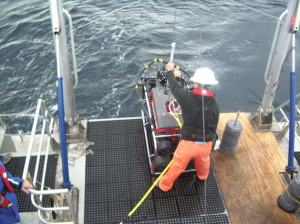 Deploying the ROV