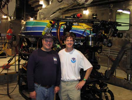 NOAA Chief of Staff (left), Scott Rayder, and TAS Noah Doughty