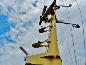 The forward mast
