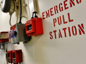 The emergency pull station, just in case
