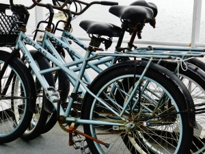 Bicycles for use ashore during liberty