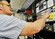 Electronics Technician (ET) Jeff Martin hard at work