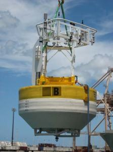 WHOTS –3 buoy during transfer from 2nd to 1st deck.